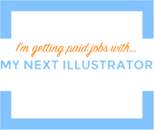 Mynextillustrator badge